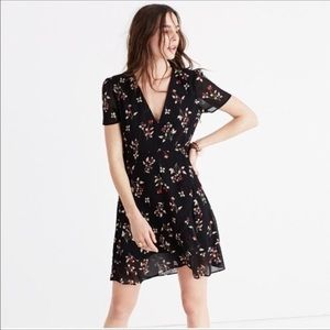 NWOT Madewell Posy Floral Ruffle Dress, Size 6